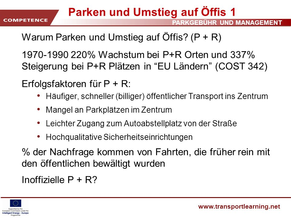 Parken und Umstieg auf Öffis 1