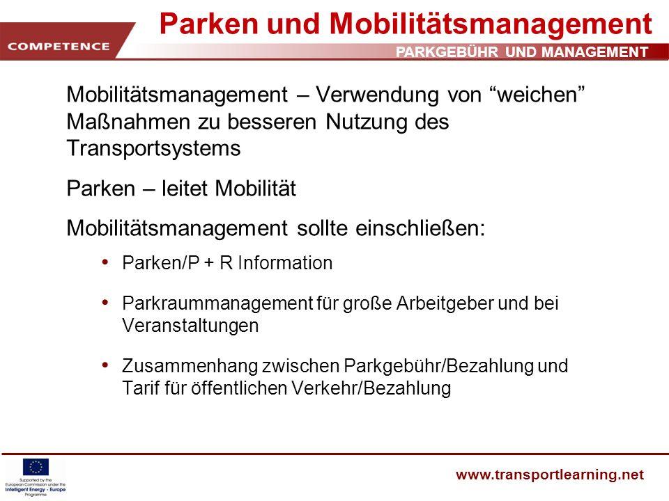 Parken und Mobilitätsmanagement