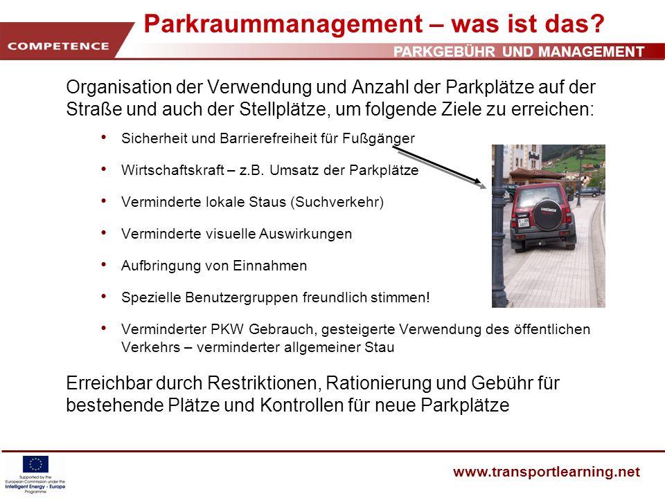 Parkraummanagement – was ist das