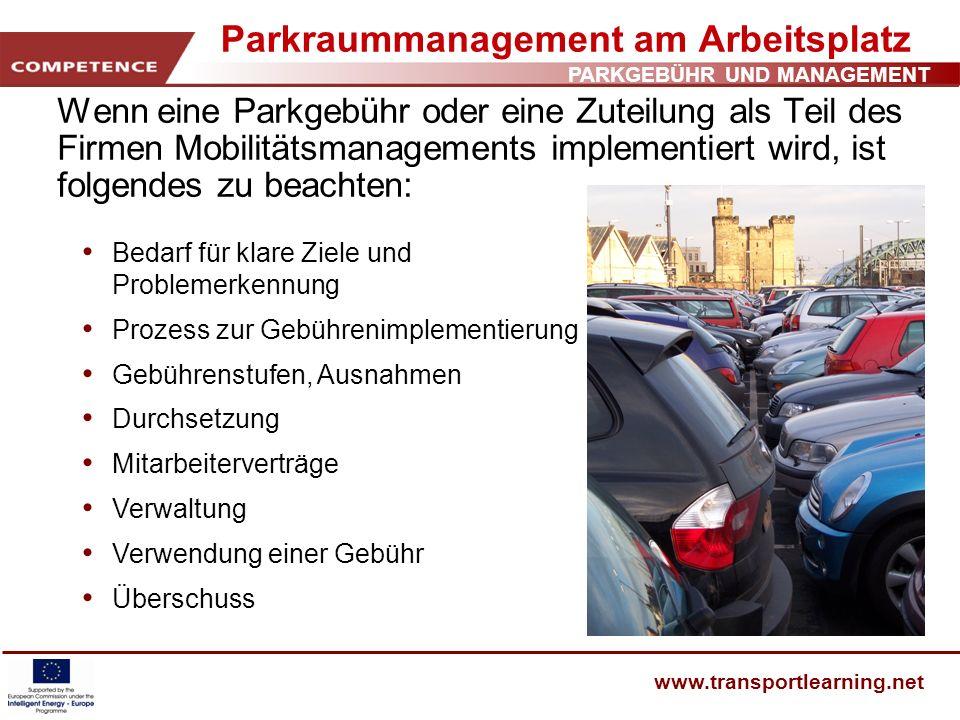 Parkraummanagement am Arbeitsplatz