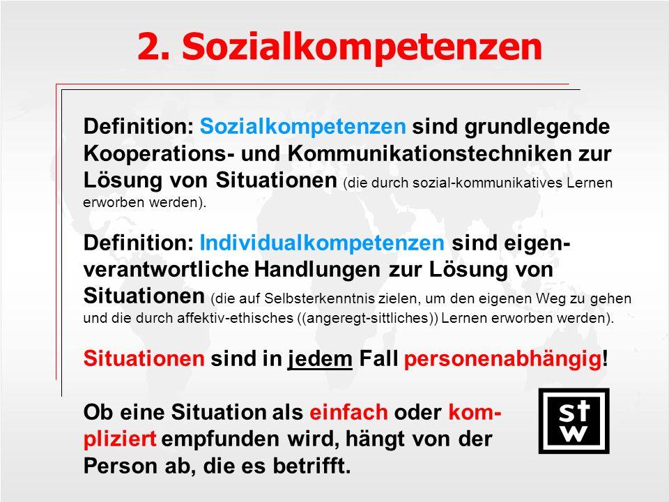 2. Sozialkompetenzen