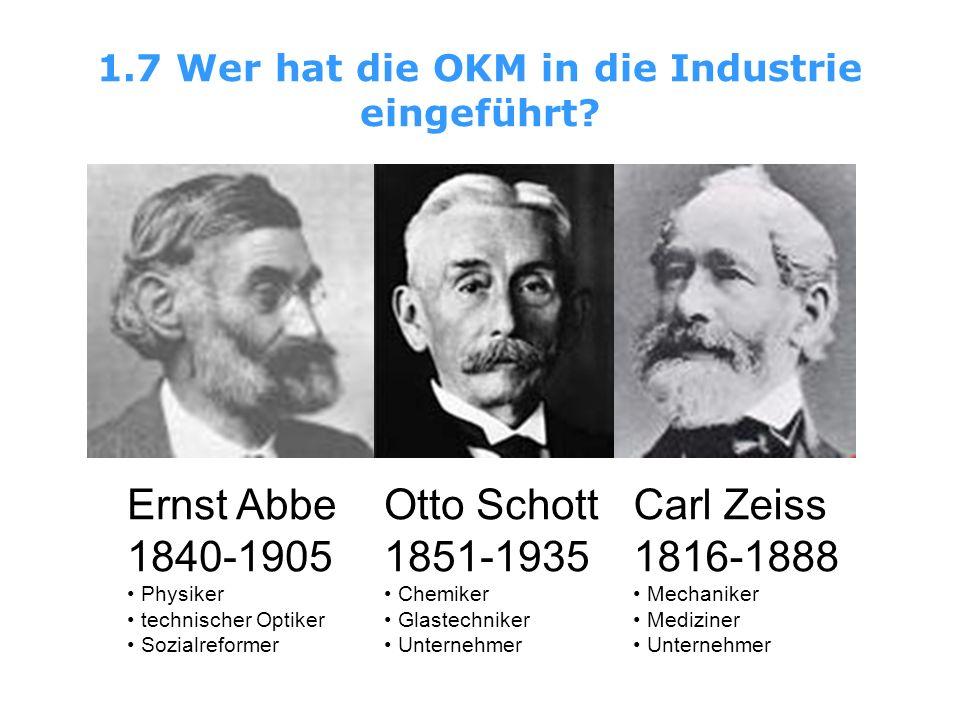 1.7 Wer hat die OKM in die Industrie eingeführt