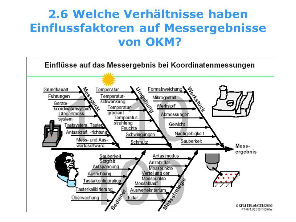 2.6 Welche Verhältnisse haben Einflussfaktoren auf Messergebnisse von OKM