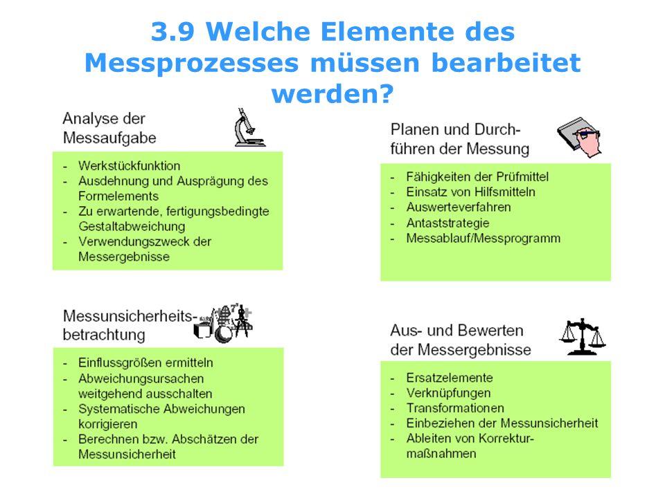 3.9 Welche Elemente des Messprozesses müssen bearbeitet werden