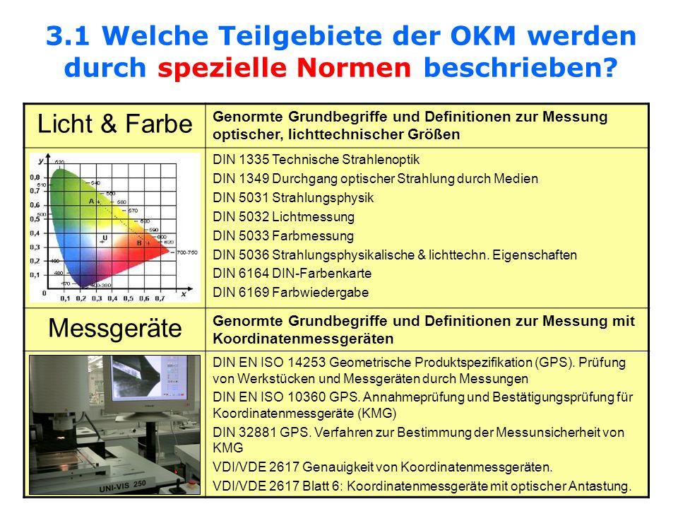 3.1 Welche Teilgebiete der OKM werden durch spezielle Normen beschrieben