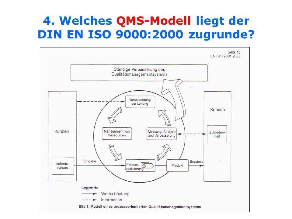 4. Welches QMS-Modell liegt der DIN EN ISO 9000:2000 zugrunde