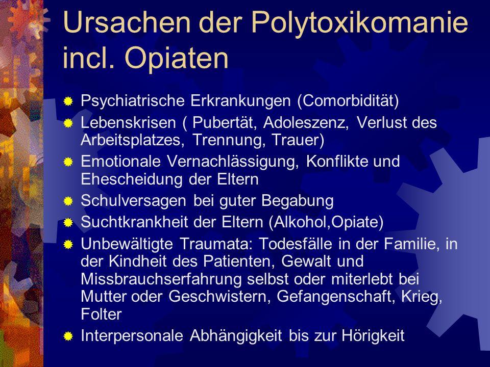 Ursachen der Polytoxikomanie incl. Opiaten
