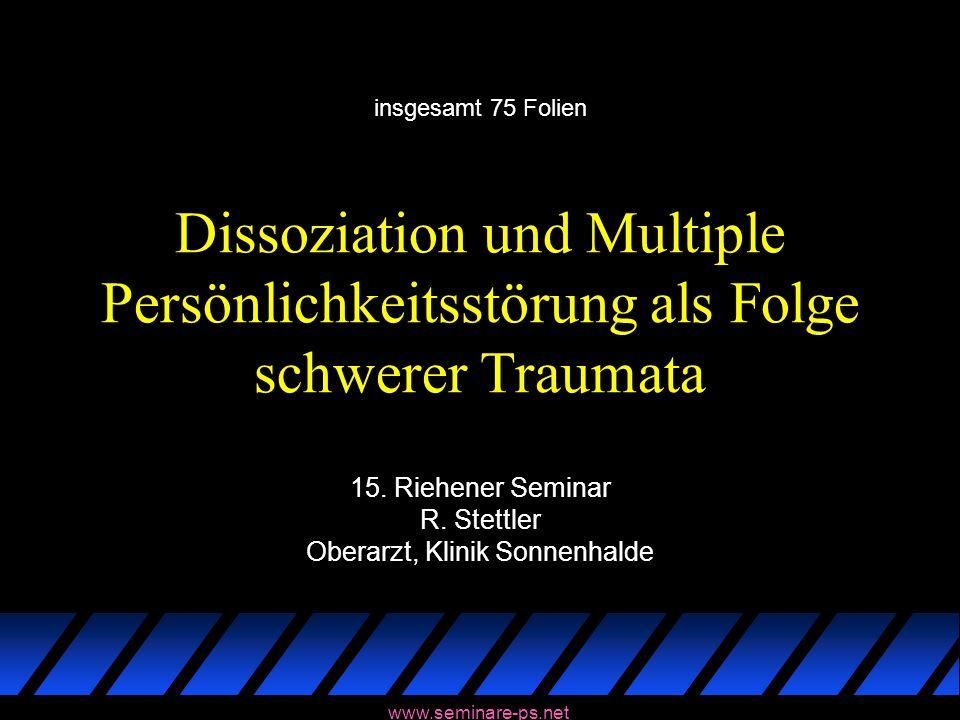 15. Riehener Seminar R. Stettler Oberarzt, Klinik Sonnenhalde