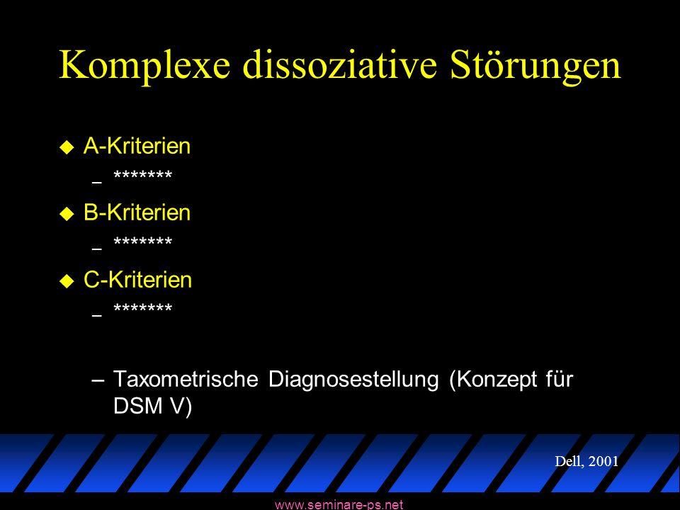Komplexe dissoziative Störungen
