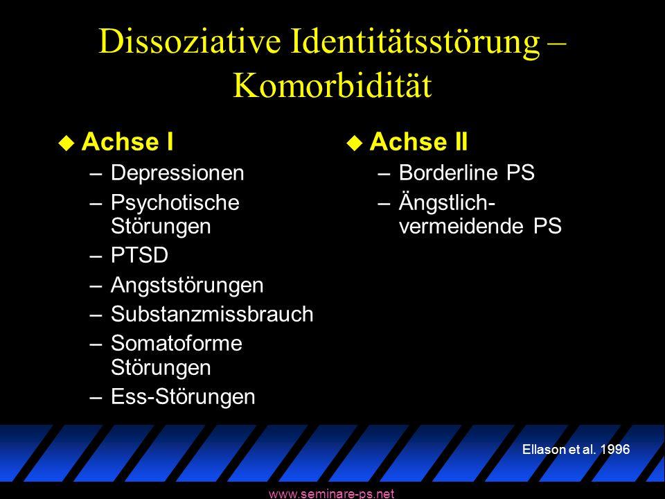 Dissoziative Identitätsstörung – Komorbidität