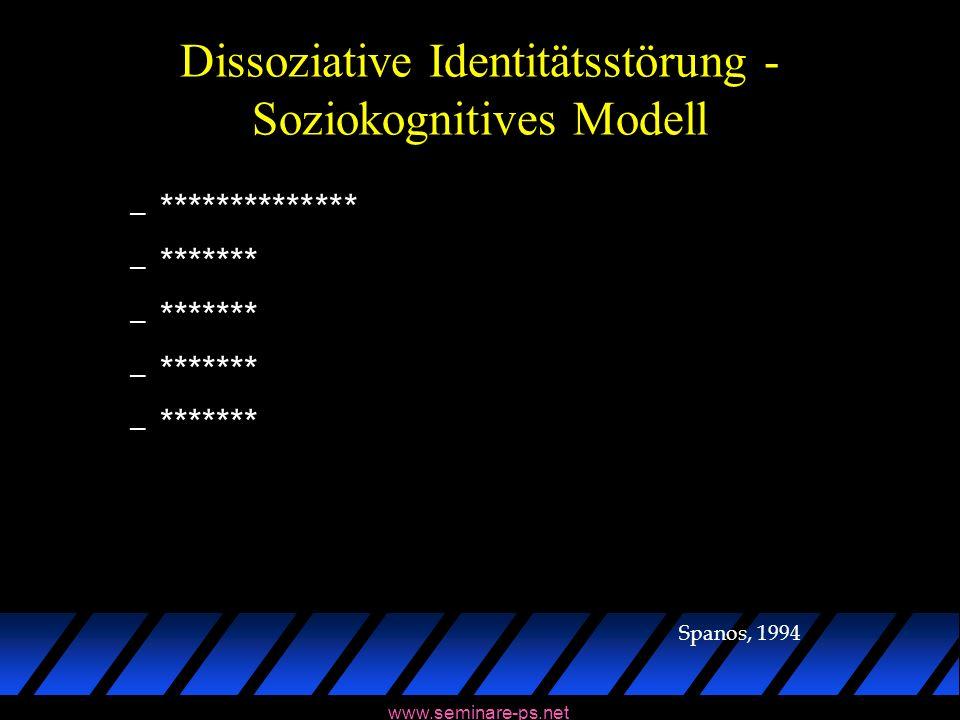 Dissoziative Identitätsstörung - Soziokognitives Modell
