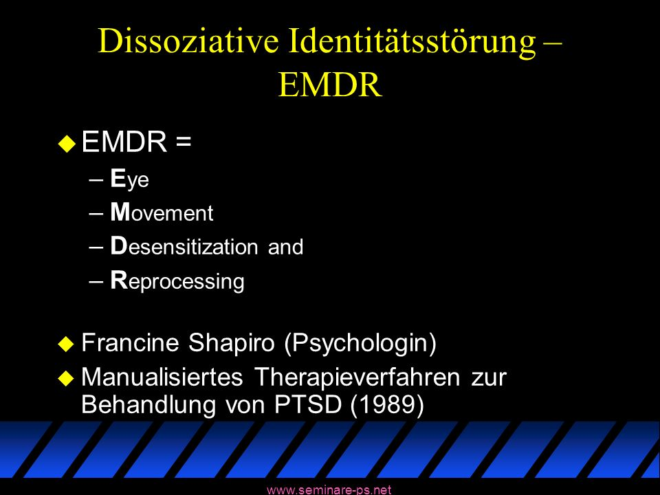 Dissoziative Identitätsstörung – EMDR