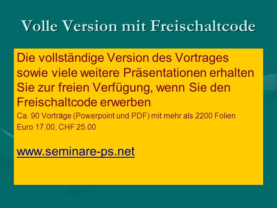 Volle Version mit Freischaltcode