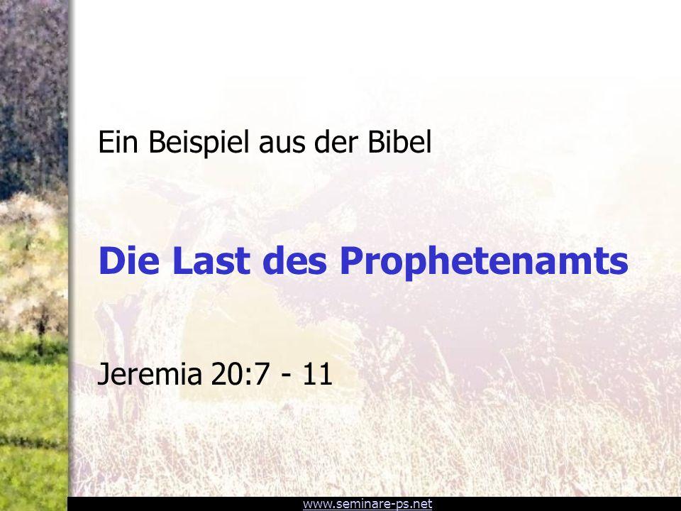 Die Last des Prophetenamts