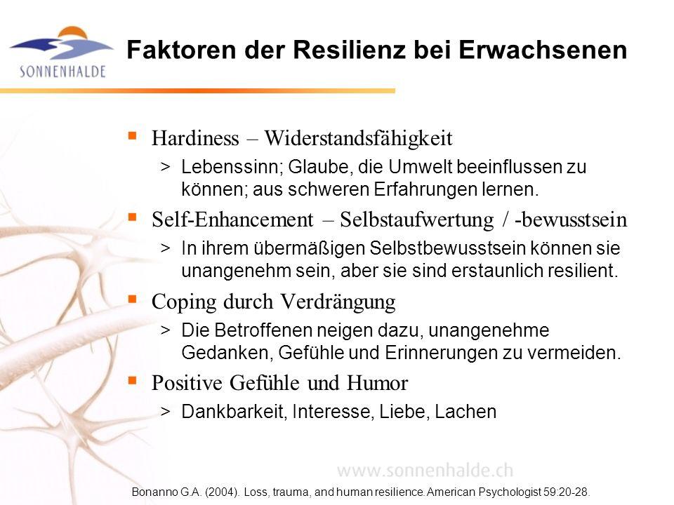 Faktoren der Resilienz bei Erwachsenen