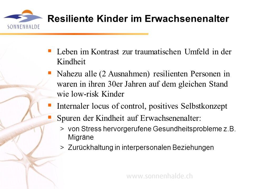 Resiliente Kinder im Erwachsenenalter