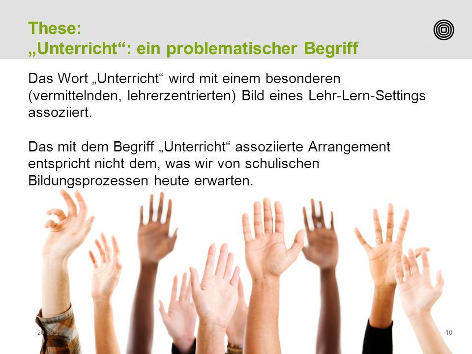"""""""Unterricht : ein problematischer Begriff"""