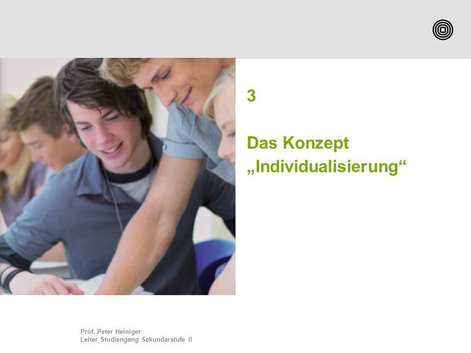 """3 Das Konzept """"Individualisierung"""