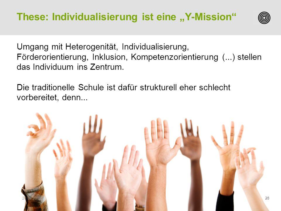 """These: Individualisierung ist eine """"Y-Mission"""