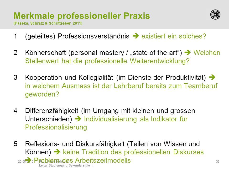 Merkmale professioneller Praxis
