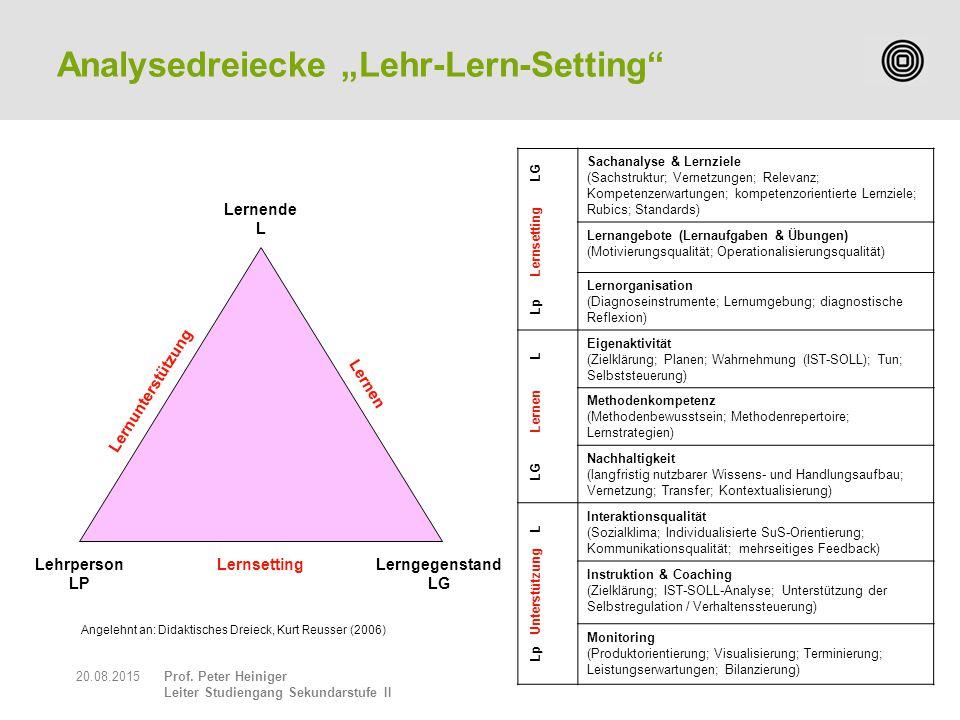 """Analysedreiecke """"Lehr-Lern-Setting"""