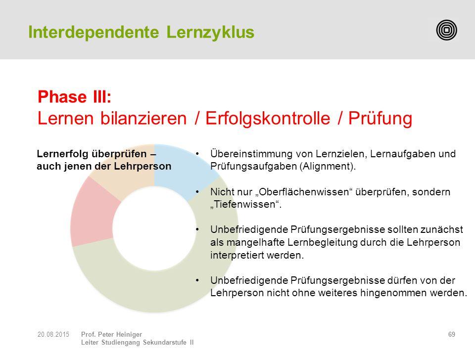 Phase III: Lernen bilanzieren / Erfolgskontrolle / Prüfung