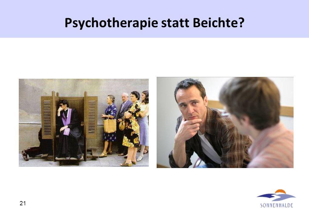 Psychotherapie statt Beichte