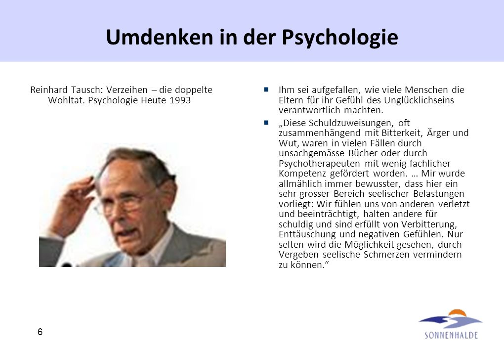 Umdenken in der Psychologie