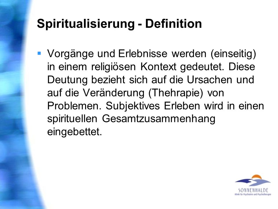 Spiritualisierung - Definition