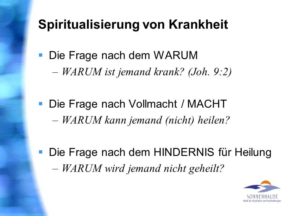 Spiritualisierung von Krankheit