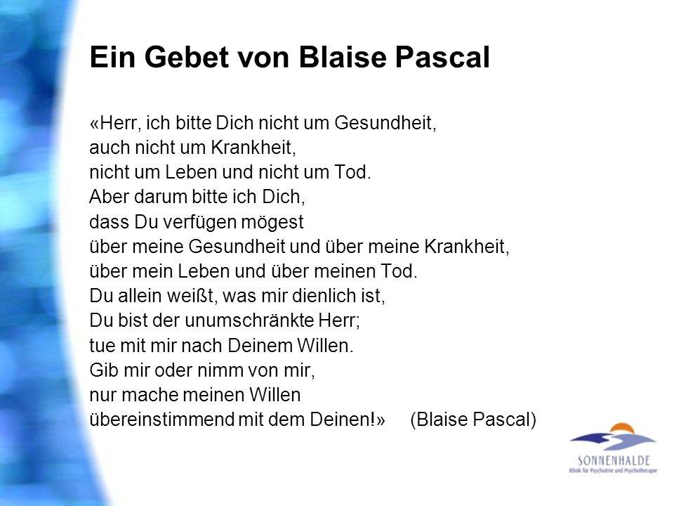 Ein Gebet von Blaise Pascal
