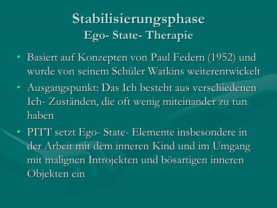 Stabilisierungsphase Ego- State- Therapie