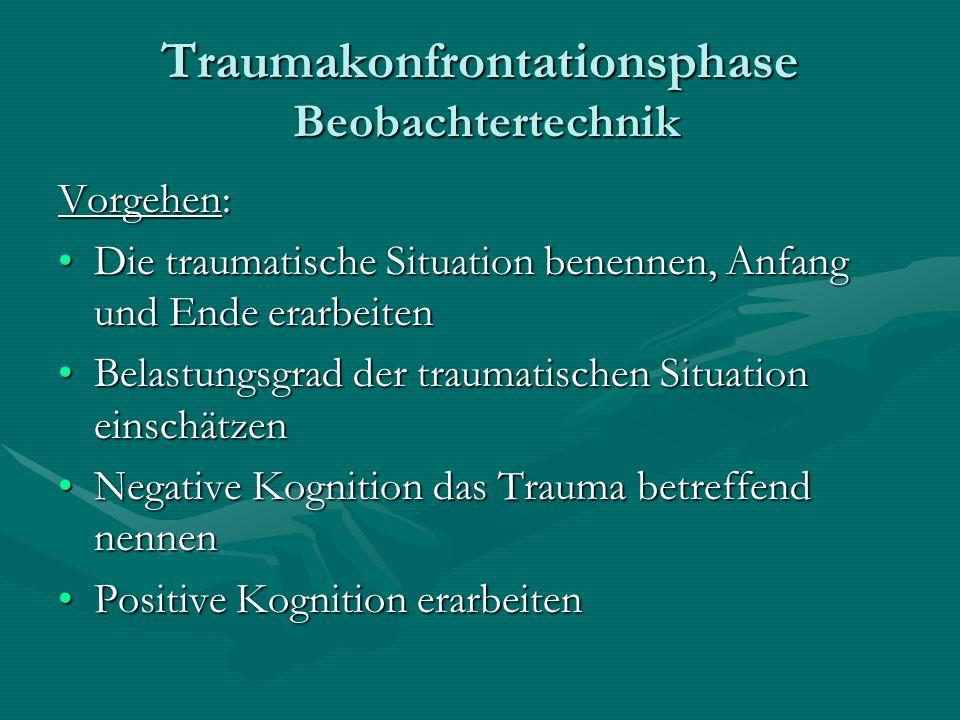 Traumakonfrontationsphase Beobachtertechnik