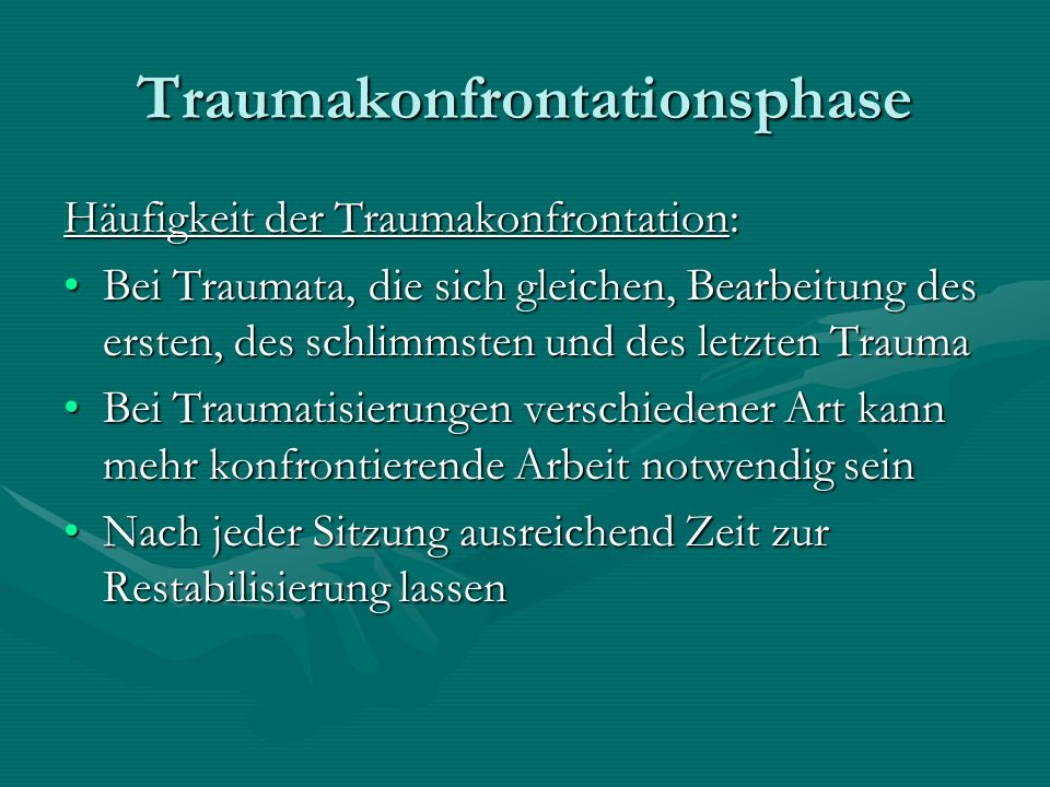 Traumakonfrontationsphase