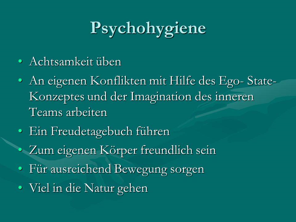 Psychohygiene Achtsamkeit üben