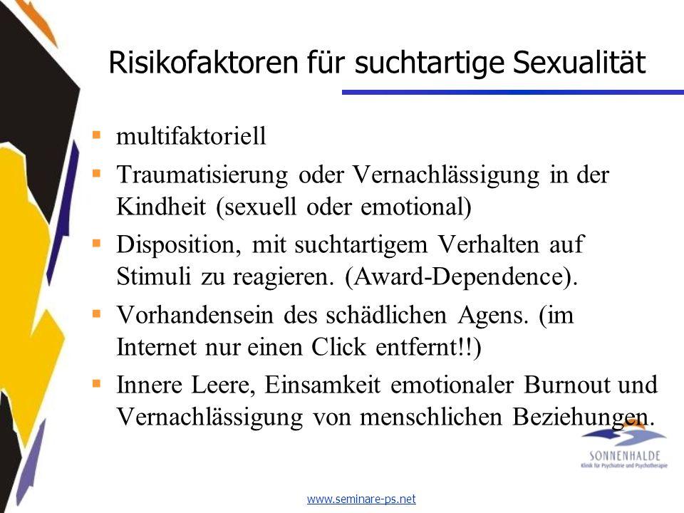 Risikofaktoren für suchtartige Sexualität