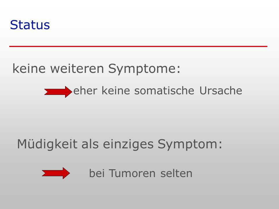 keine weiteren Symptome: