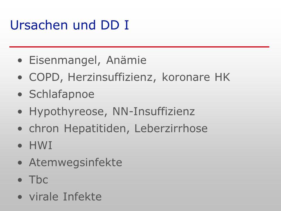 Ursachen und DD I Eisenmangel, Anämie