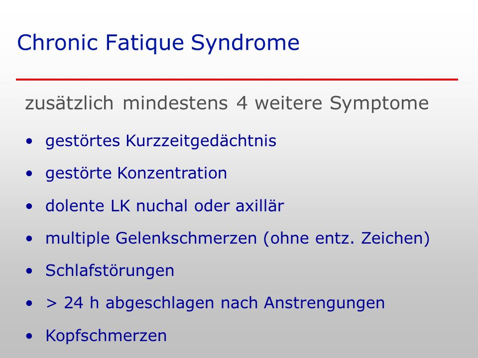 Chronic Fatique Syndrome