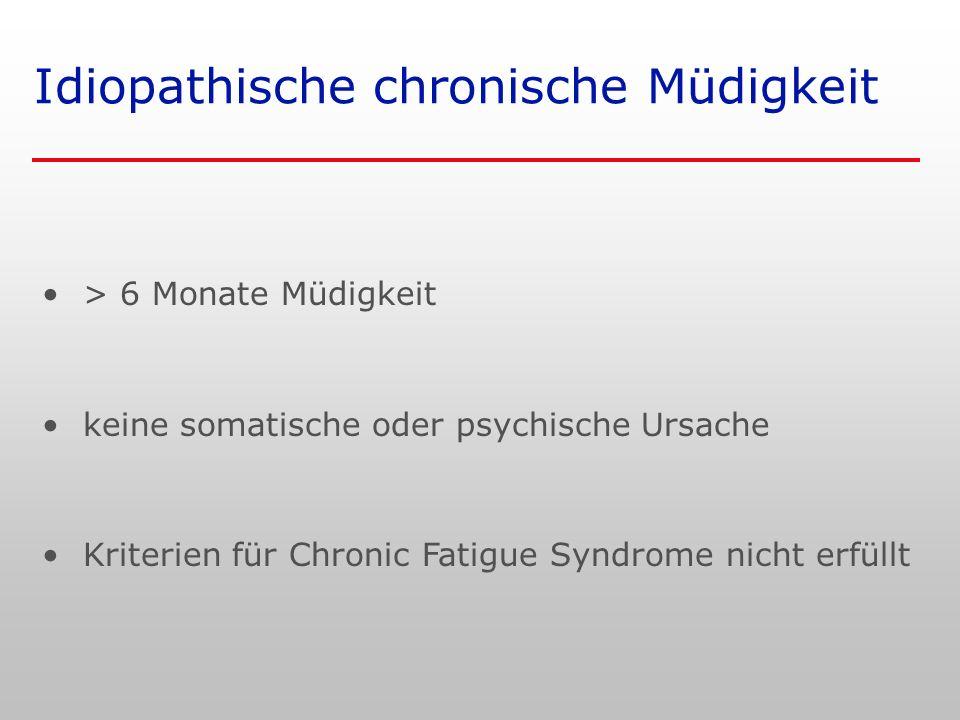 Idiopathische chronische Müdigkeit