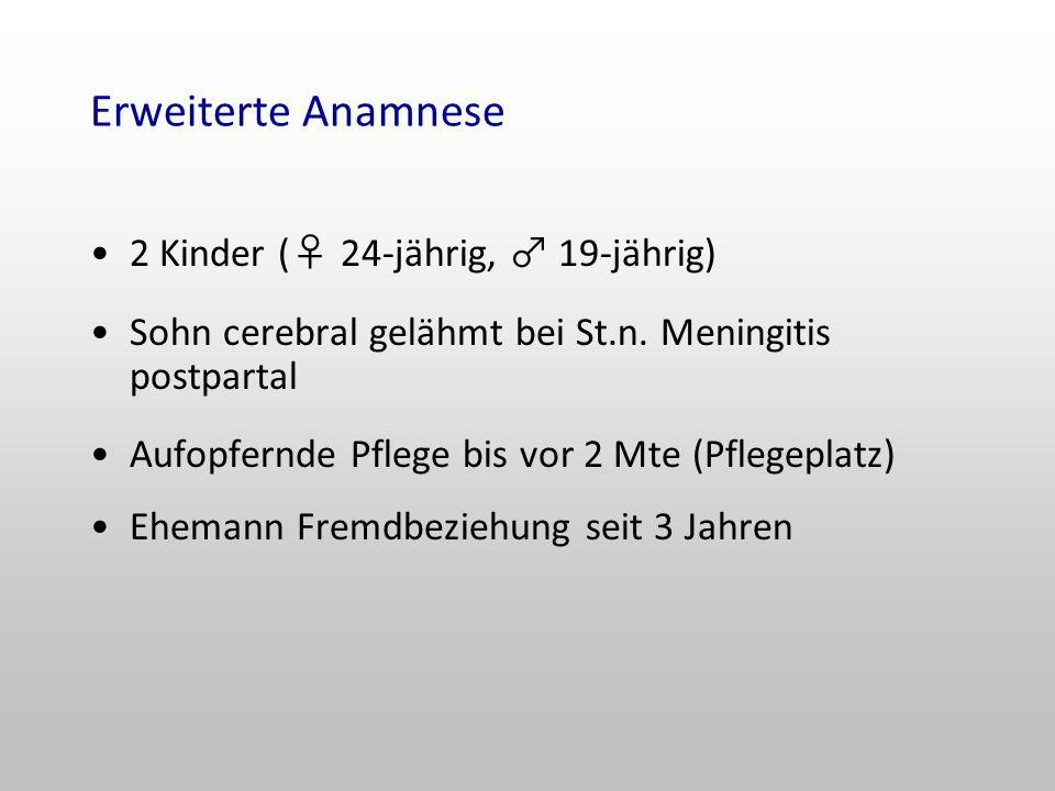Erweiterte Anamnese 2 Kinder (♀ 24-jährig, ♂ 19-jährig)