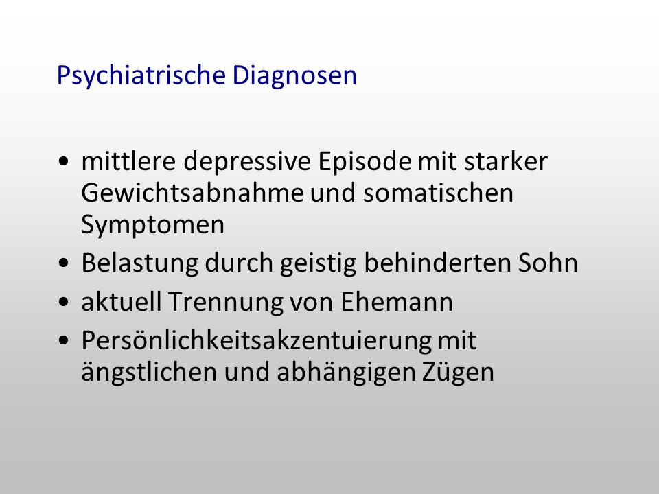 Psychiatrische Diagnosen