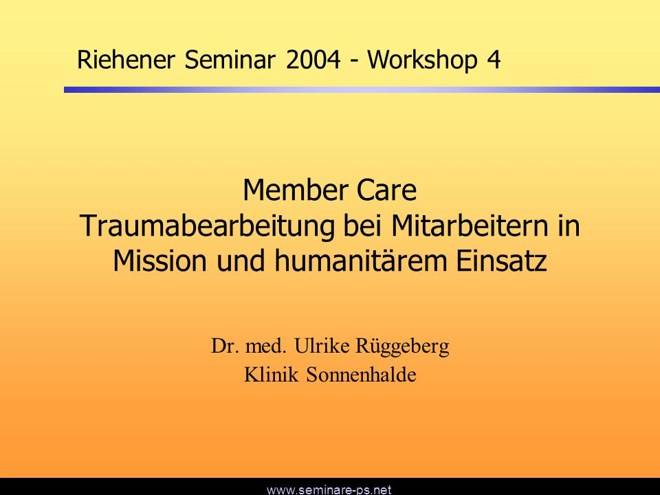 Dr. med. Ulrike Rüggeberg Klinik Sonnenhalde