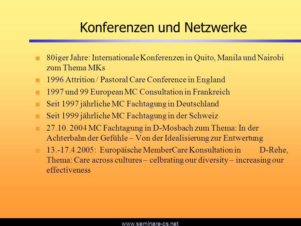 Konferenzen und Netzwerke