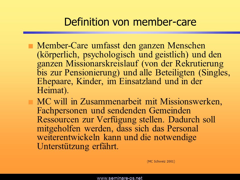 Definition von member-care