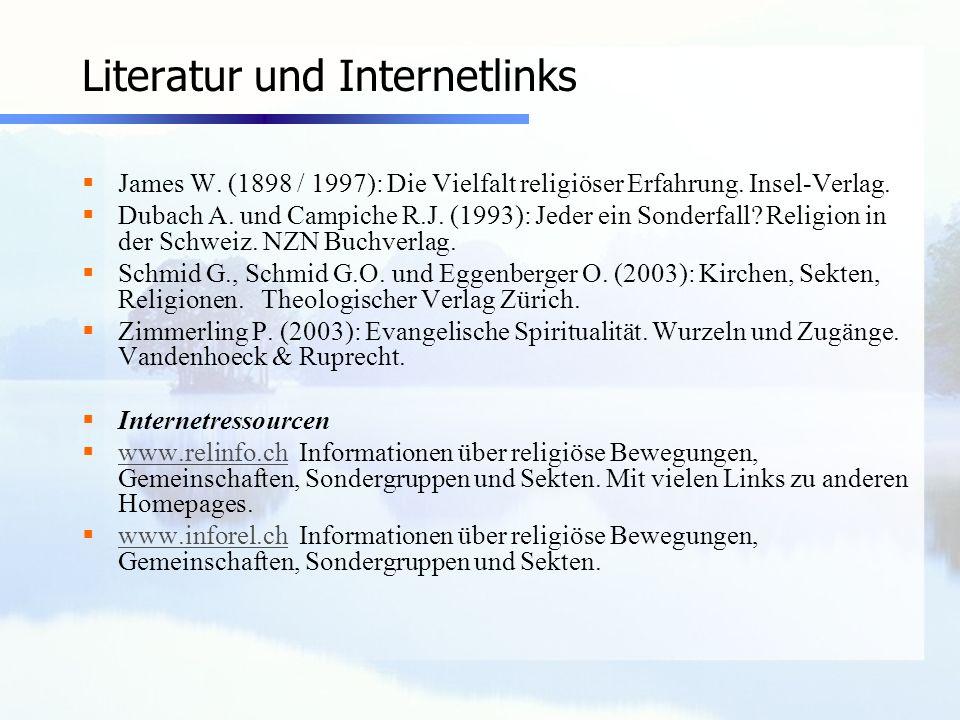 Literatur und Internetlinks