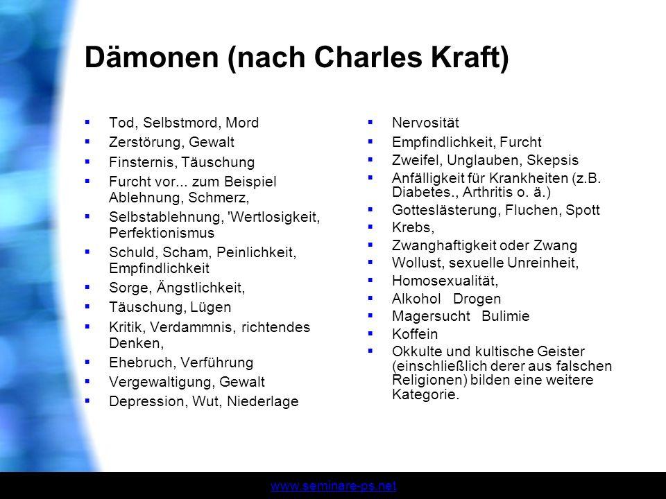 Dämonen (nach Charles Kraft)