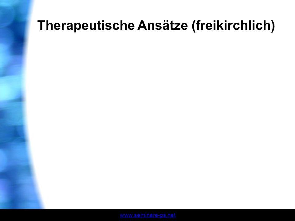 Therapeutische Ansätze (freikirchlich)