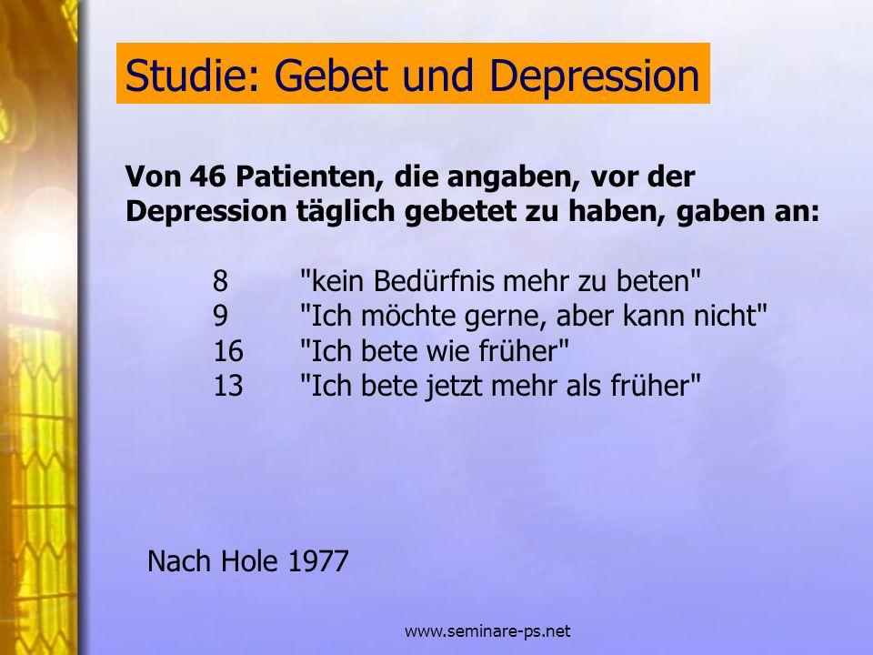 Studie: Gebet und Depression