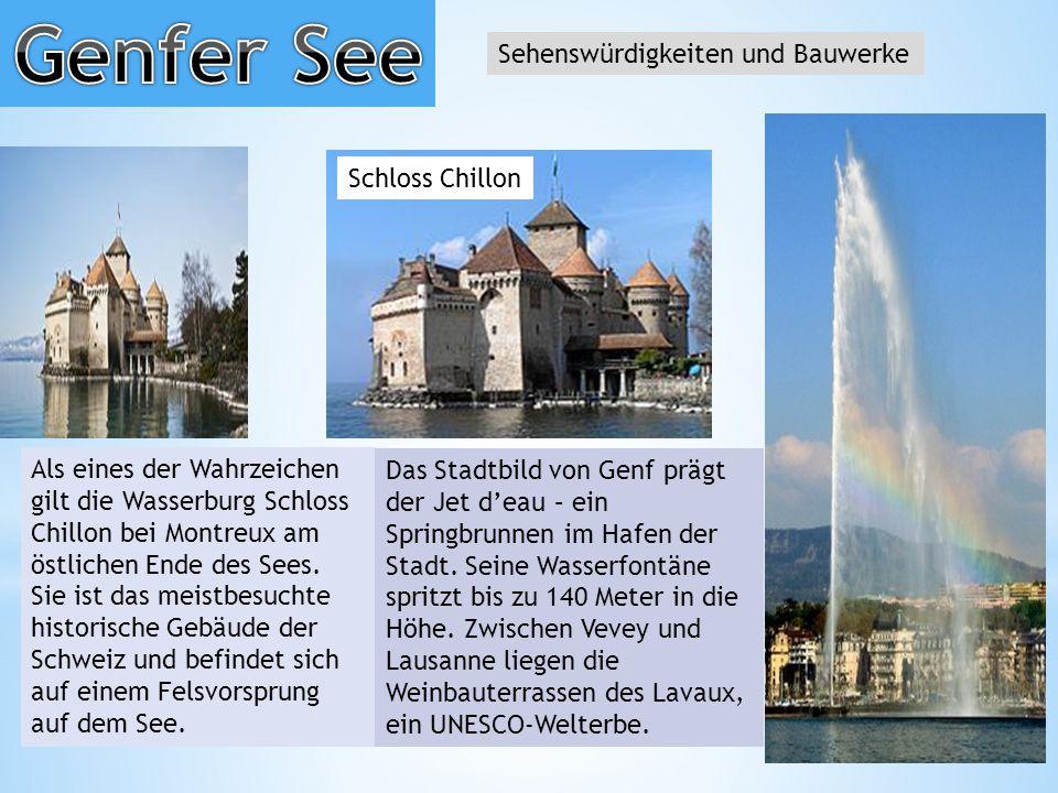 Genfer See Sehenswürdigkeiten und Bauwerke Schloss Chillon